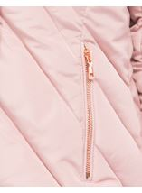 Quilted Faux Fur Trim Coat Blush Pink - Gallery Image 4
