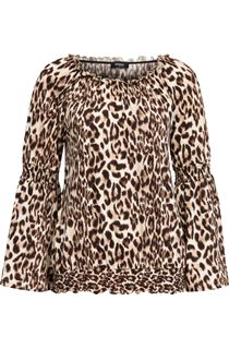 Animal Print Bardot Top