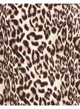 Animal Print Bardot Top Browns - Gallery Image 4
