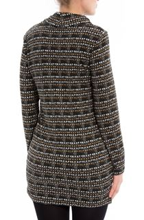 Brushed Knitted Cowl Neck Tunic
