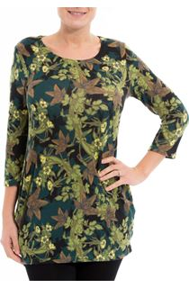 Brushed Floral Knit Tunic