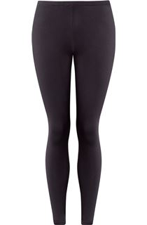 Full Length Jersey Leggings - Dark Grey