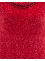 Cowl Neck Long Sleeve Chenille Top Red - Gallery Image 4