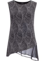 Asymmetric Sleeveless Shimmer Top
