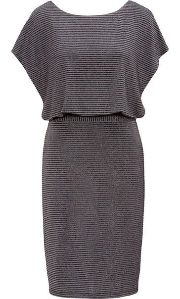Sparkling Strip Bow Detail Dress Grey Multi