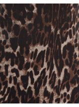 Leopard Print Cowl Neck Dress Brown/Black - Gallery Image 4