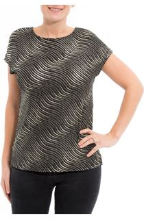 Sparkle Wave Printed Short Sleeve Top