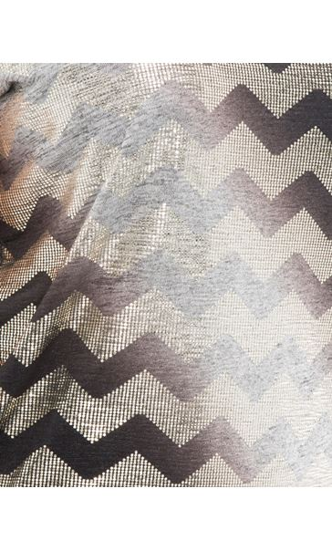 Short Sleeve Chevron Foil Top Grey - Gallery Image 4