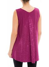 Sleeveless Glitter Top Cerise - Gallery Image 3
