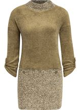 Long Sleeve Textured Knit Tunic
