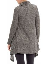 Cowl Neck Loose Knit Tunic Grey Marl - Gallery Image 2