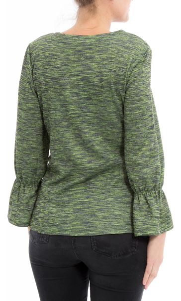 Shimmer Round Neck Top Apple - Gallery Image 2