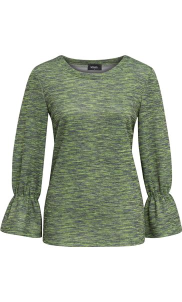Shimmer Round Neck Top Apple - Gallery Image 3