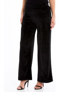 Velour Wide Leg Glitter Trousers