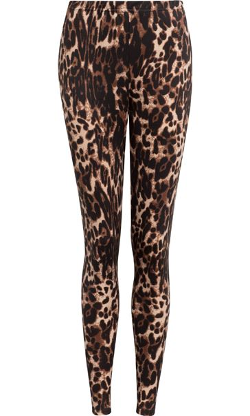 Animal Print Leggings Brown/Black