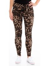 Animal Print Leggings Brown/Black - Gallery Image 2
