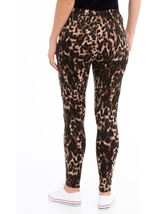 Animal Print Leggings Brown/Black - Gallery Image 3