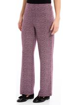 Monochrome Print Boot Cut Trousers Grape - Gallery Image 2