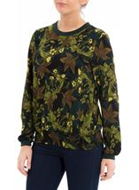 Long Sleeve Floral Georgette Top Verde/Lime - Gallery Image 2