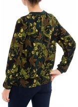 Long Sleeve Floral Georgette Top Verde/Lime - Gallery Image 3