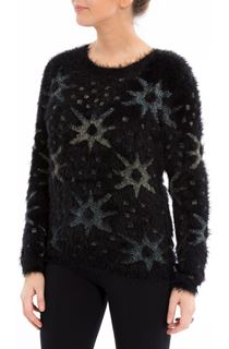 Feather Knit Start Top - Black
