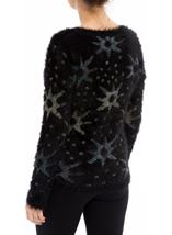 Eyelash Knitted Star Top Black - Gallery Image 2