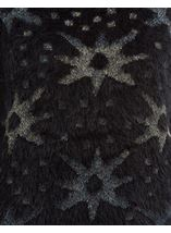 Eyelash Knitted Star Top Black - Gallery Image 3