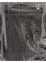 Anna Rose Sparkle Cowl Neck Top Black/Silver - Gallery Image 4