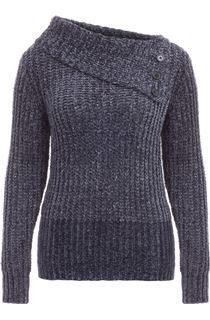 Long Sleeve Chenille Knit Top - Dark Grey