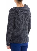 Long Sleeve Chenille Knit Top Dark Grey - Gallery Image 3