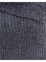 Long Sleeve Chenille Knit Top Dark Grey - Gallery Image 4