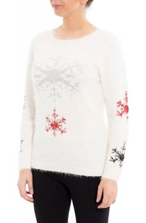 Snowflake Feather Knit Top