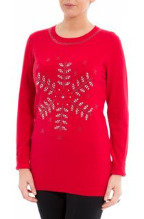 Embellished Snowflake Knit Top