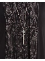 Anna Rose Top Cardigan And Necklace Set Black/Rainbow - Gallery Image 4