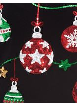 Christmas Bauble Knitted Top Black - Gallery Image 4