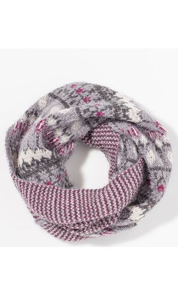 Eyelash Knit Snood Grey