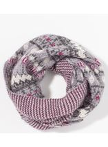Eyelash Knit Snood Grey - Gallery Image 1