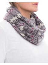 Eyelash Knit Snood Grey - Gallery Image 2
