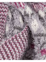 Eyelash Knit Snood Grey - Gallery Image 3