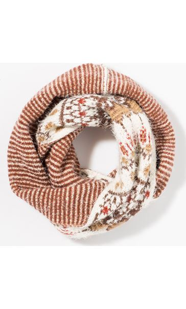 Eyelash Knit Snood Beige