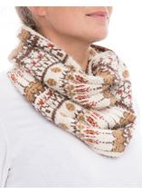 Eyelash Knit Snood Beige - Gallery Image 2