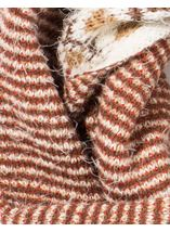 Eyelash Knit Snood Beige - Gallery Image 3