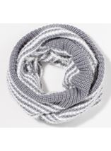 Striped Snood Grey - Gallery Image 2