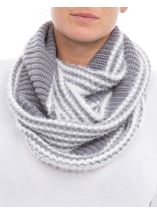 Striped Snood Grey - Gallery Image 3