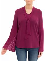 Long Pleated Sleeve Top
