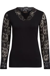 Anna Rose Lace Sleeve Top