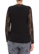 Anna Rose Lace Sleeve Top Black - Gallery Image 3