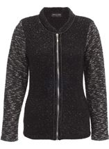 Anna Rose Knit Jacket Black - Gallery Image 1
