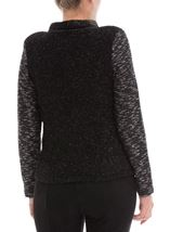 Anna Rose Knit Jacket Black - Gallery Image 3