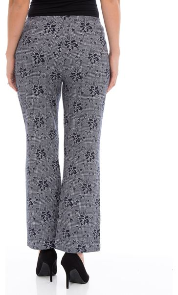 Anna Rose Patterned Trousers Navy - Gallery Image 2